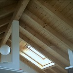 Dachkonstruktion sichtbar
